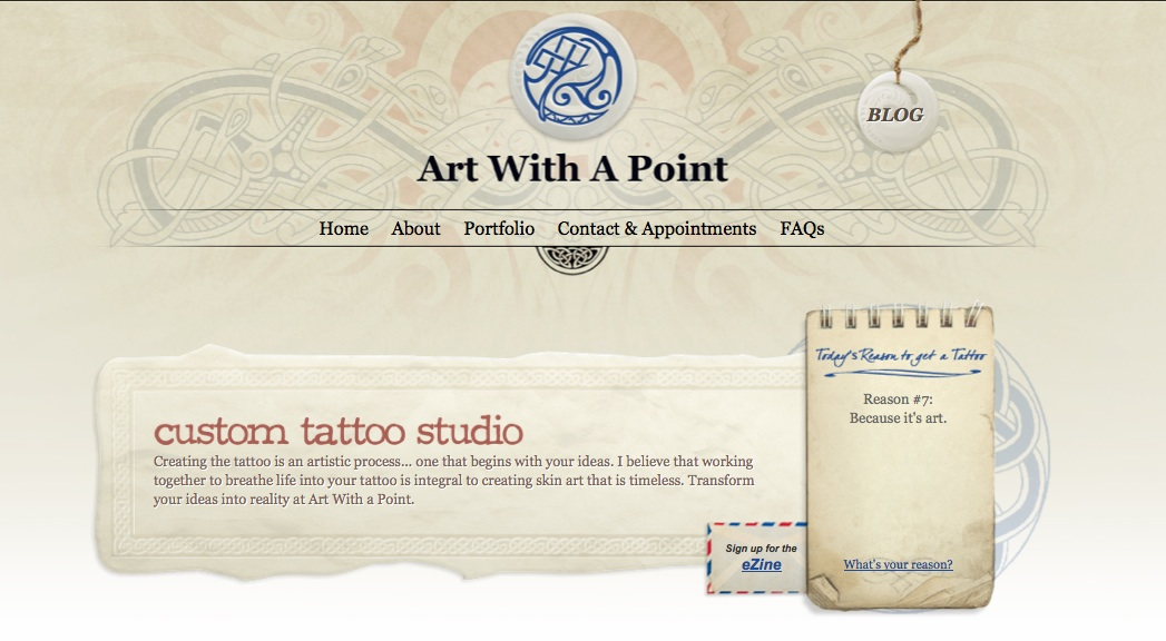 Art With a Point Website Screenshot