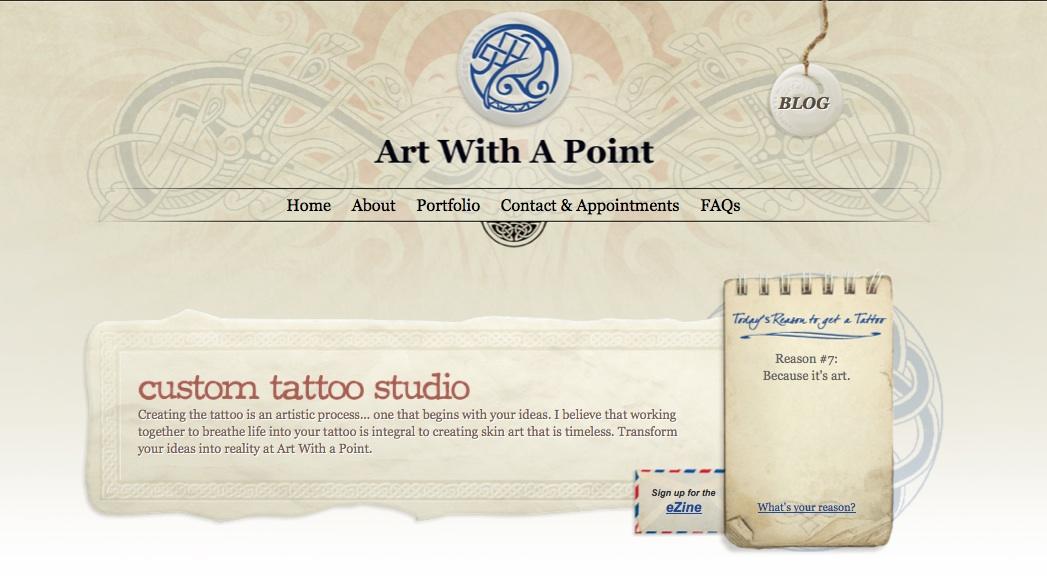 Art With a Point Website Screenshot