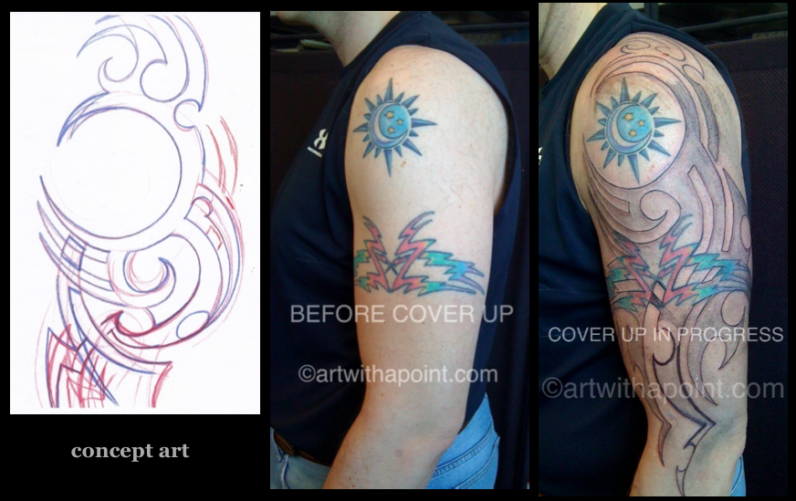 Cover up in process: Tribal Black and Red