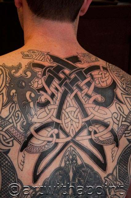 Celtic back piece blackwork